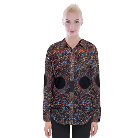Space Star Light Black Hole Womens Long Sleeve Shirt by Mariart