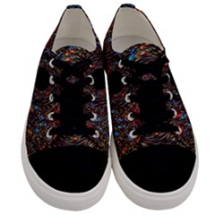 Space Star Light Black Hole Men s Low Top Canvas Sneakers