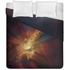 Sun Light Galaxy Duvet Cover Double Side (california King Size)