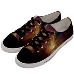 Sun Light Galaxy Men s Low Top Canvas Sneakers by Mariart