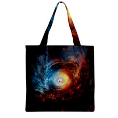 Supermassive Black Hole Galaxy Is Hidden Behind Worldwide Network Grocery Tote Bag by Mariart