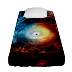 Supermassive Black Hole Galaxy Is Hidden Behind Worldwide Network Fitted Sheet (single Size)