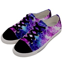 Space Galaxy Purple Blue Men s Low Top Canvas Sneakers by Mariart