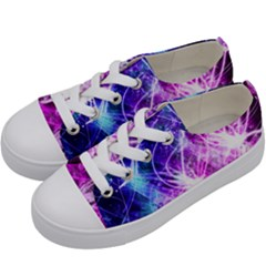 Space Galaxy Purple Blue Kids  Low Top Canvas Sneakers by Mariart