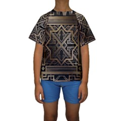 Art Nouveau Kids  Short Sleeve Swimwear