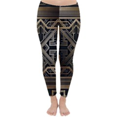 Art Nouveau Classic Winter Leggings