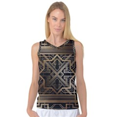 Art Nouveau Women s Basketball Tank Top