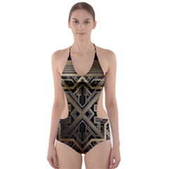Art Nouveau Cut Out One Piece Swimsuit