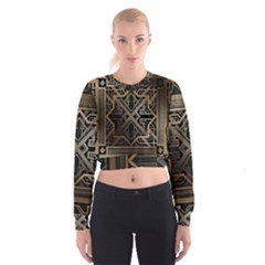 Art Nouveau Cropped Sweatshirt