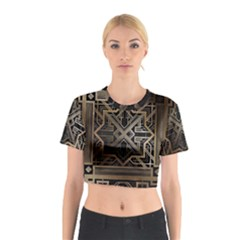 Art Nouveau Cotton Crop Top