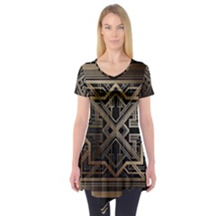 Art Nouveau Short Sleeve Tunic