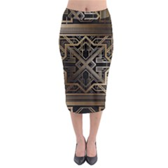 Art Nouveau Midi Pencil Skirt
