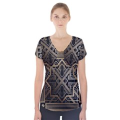 Art Nouveau Short Sleeve Front Detail Top