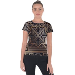 Art Nouveau Short Sleeve Sports Top