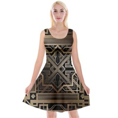 Art Nouveau Reversible Velvet Sleeveless Dress