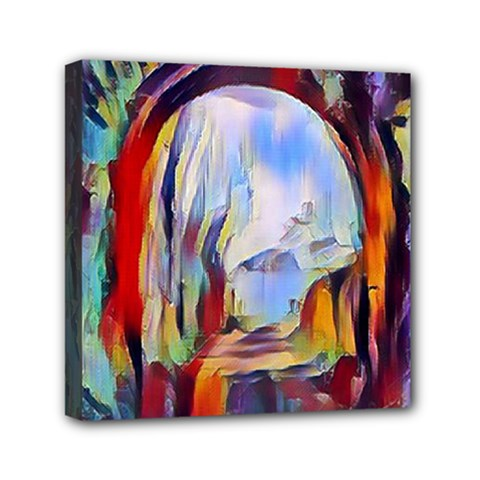 Abstract Tunnel Mini Canvas 6  X 6  by 8fugoso