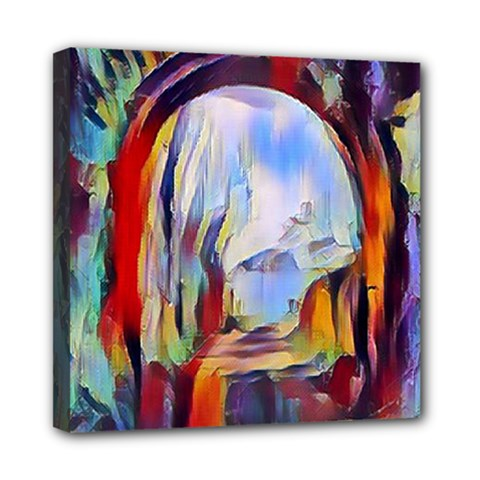 Abstract Tunnel Mini Canvas 8  X 8