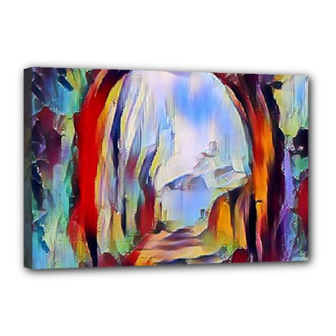 Abstract Tunnel Canvas 18  X 12
