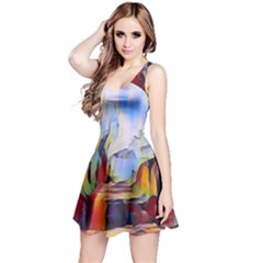 Abstract Tunnel Reversible Sleeveless Dress