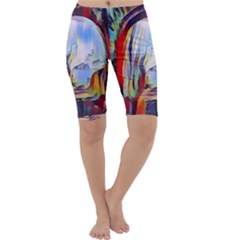Abstract Tunnel Cropped Leggings