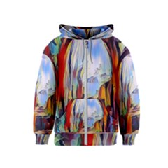 Abstract Tunnel Kids  Zipper Hoodie