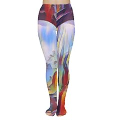 Abstract Tunnel Women s Tights