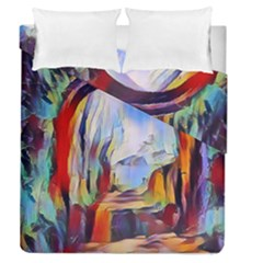 Abstract Tunnel Duvet Cover Double Side (queen Size)