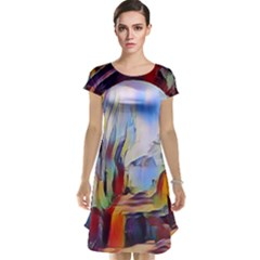 Abstract Tunnel Cap Sleeve Nightdress
