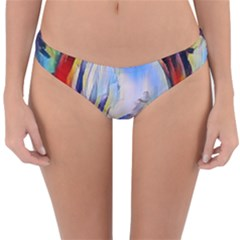 Abstract Tunnel Reversible Hipster Bikini Bottoms