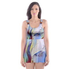 Abstract Tunnel Skater Dress Swimsuit