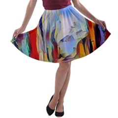 Abstract Tunnel A Line Skater Skirt