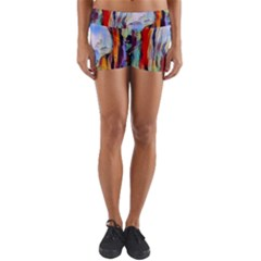 Abstract Tunnel Yoga Shorts