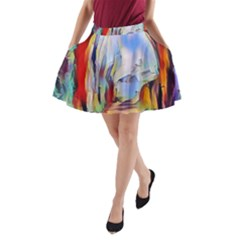 Abstract Tunnel A Line Pocket Skirt by 8fugoso