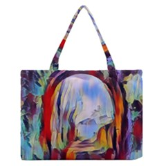 Abstract Tunnel Zipper Medium Tote Bag