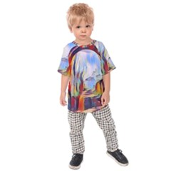 Abstract Tunnel Kids Raglan Tee