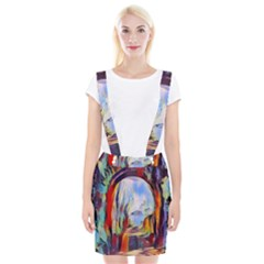 Abstract Tunnel Braces Suspender Skirt by 8fugoso