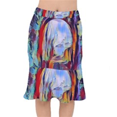 Abstract Tunnel Mermaid Skirt