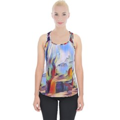 Abstract Tunnel Piece Up Tank Top