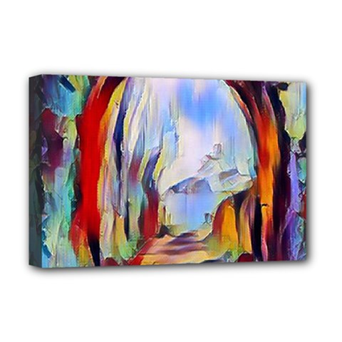 Abstract Tunnel Deluxe Canvas 18  X 12   by 8fugoso