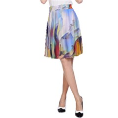 Abstract Tunnel A-line Skirt by 8fugoso
