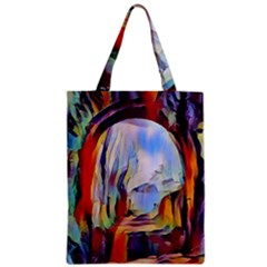 Abstract Tunnel Zipper Classic Tote Bag by 8fugoso