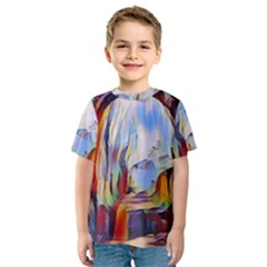 Abstract Tunnel Kids  Sport Mesh Tee by 8fugoso