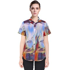 Abstract Tunnel Women s Short Sleeve Shirt by 8fugoso