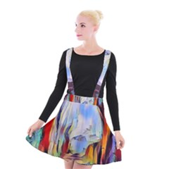 Abstract Tunnel Suspender Skater Skirt by 8fugoso