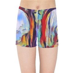 Abstract Tunnel Kids Sports Shorts by 8fugoso