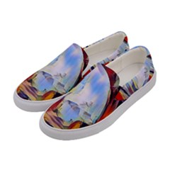 Abstract Tunnel Women s Canvas Slip Ons by 8fugoso