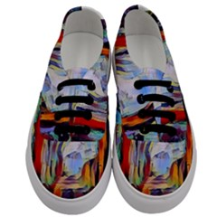 Abstract Tunnel Men s Classic Low Top Sneakers