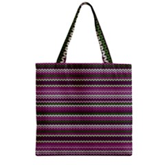 Winter Pattern 2 Zipper Grocery Tote Bag by tarastyle