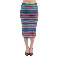 Winter Pattern 4 Midi Pencil Skirt by tarastyle