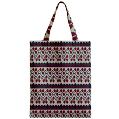 Winter Pattern 5 Zipper Classic Tote Bag by tarastyle